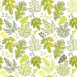 A seamless leaf pattern - Stock Vector