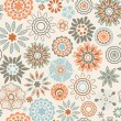 Ornate floral seamless texture - Stock Vector