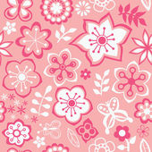 Romantic floral pattern — Vecteur