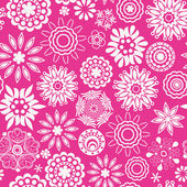 Romantic floral pattern — Stock Vector