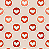 Romantic seamless pattern with hearts — Vetorial Stock