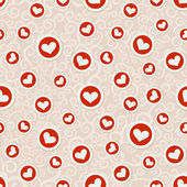 Romantic seamless pattern with hearts — Wektor stockowy