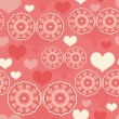 Stock Vector: Romantic pattern with hearts