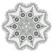 Ornamental round lace - Stock vektor
