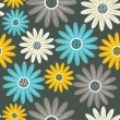 Vector de stock : Bright floral seamless texture