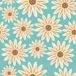 světlé květinové Bezešvá textura — Stock vektor