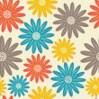 Bright floral seamless texture — Stockvectorbeeld