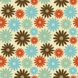 Bright floral seamless texture — Vector de stock