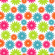 Stock Vector: Bright floral seamless texture