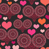 Romantic pattern with hearts — 图库矢量图片