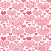 Romantic pattern with hearts — Vecteur