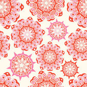 Kunstvolle blumen nahtlose textur — Stockvektor
