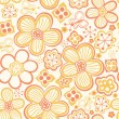 Floral seamless pattern with flowers and butterflies - Stock Vector