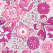 Vector de stock : Romantic seamless pattern.