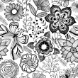 Romantic  seamless pattern. — Stockvectorbeeld
