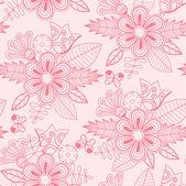 Padrão sem emenda floral com flores e borboletas — Vetorial Stock
