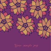 Texture transparente avec des fleurs — Vecteur
