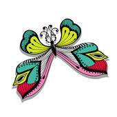 Красочных абстрактных Иллюстрация бабочка — Cтоковый вектор