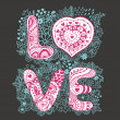 The word love — Imagen vectorial