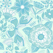 Texture with flowers and butterflies — Vector de stock