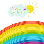 Bright rainbow illustration — Stock Vector