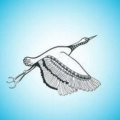 Illustrazione del volo degli uccelli — Vettoriale Stock