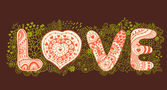 "The word ""love"" — Vector de stock"