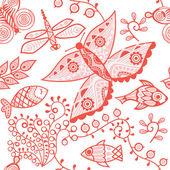 Helle floral seamless pattern — Stockvektor
