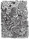 Doodle färgbakgrund — Stockvektor