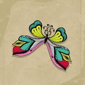 Retro butterfly design — Stock Vector