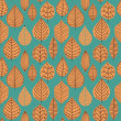 Autumn seamless pattern with leaf — Stock Vector