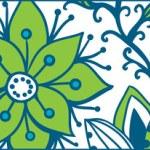 Floral banner, stylish floral banner, horizontal, floral banner or bookmark — Stock Vector
