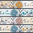 Floral banners, stylish floral banners — Stock Vector