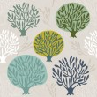 Tree seamless pattern — 图库矢量图片
