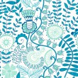 Floral seamless pattern, endless texture with flowers.  — Stockvectorbeeld