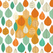 Autumn seamless pattern with leaf — ベクター素材ストック