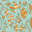 Autumn seamless pattern with leaf — 图库矢量图片