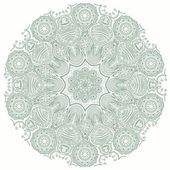 Ornamental round lace pattern — Stock Vector