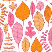 Herfst naadloze patroon met blad — Stockvector