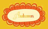Autumnal theme header — Stock Vector