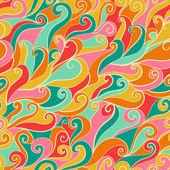 Patrón de onda inconsútil dibujados a mano — Vector de stock
