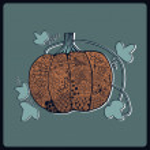 Ornated pumpkin, Halloween card — Stock Vector #21886431