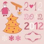 Christmas decoration stuff — Stock Vector