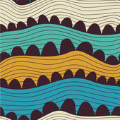 Seamless abstract hand-drawn pattern, waves background — Stock Vector