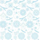 Fondo con bolas navideñas — Vector de stock