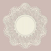 Ornamental round lace pattern — Vecteur