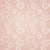 Romantyczne bezszwowe wzór z serca. — Wektor stockowy