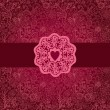Royalty-Free Stock Imagem Vetorial: Floral background in red with vintage label design