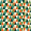 Seamless texture with triangles, mosaic endless pattern — Stock vektor