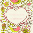 Royalty-Free Stock Vektorgrafik: Floral ornament heart shape with place for your text. Valentine\'s day background.